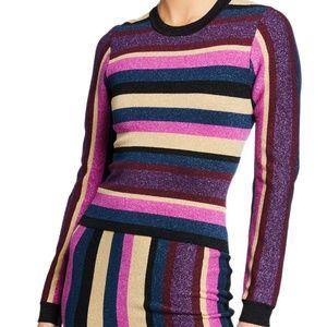 RACHEL Rachel RoyVeda Glitter Striped SweaterXS $8